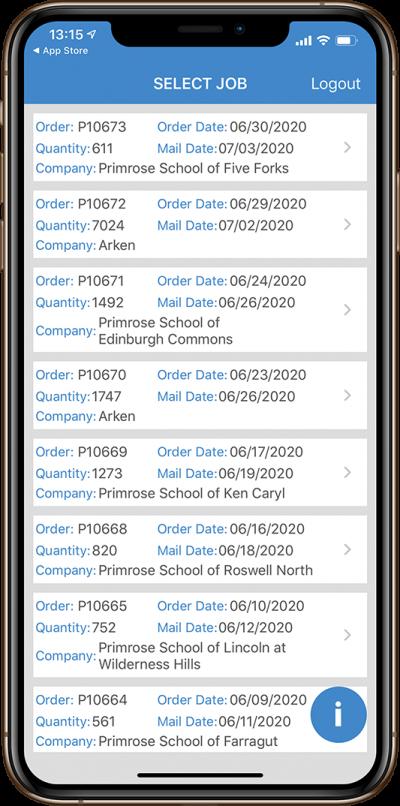 mail trail app mockups